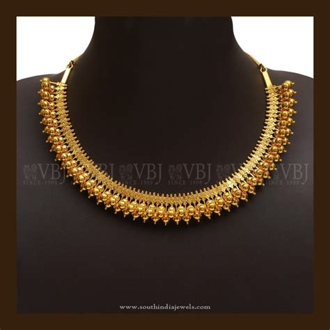 simple necklace designs simple gold necklace designs south india jewels