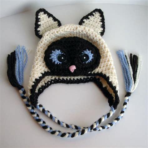 Cat Hat Crochet Pattern | siamese cat hat by crochetbyjen crocheting pattern