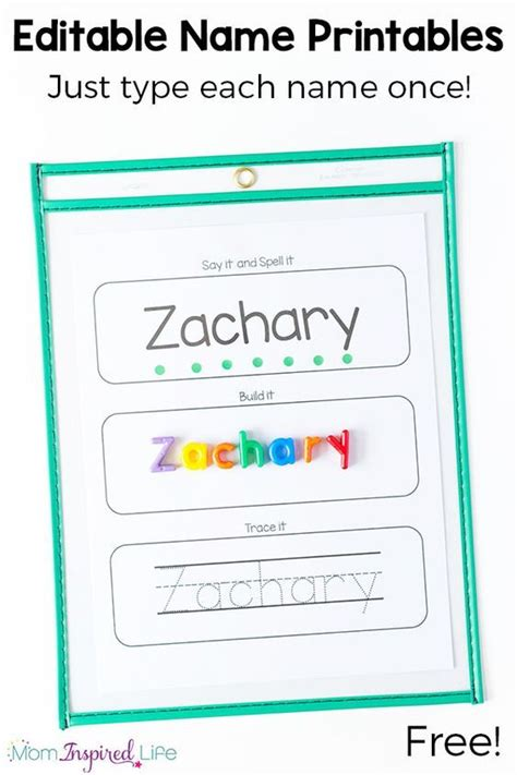 tracing your name printable name learning printable that s engaging spelling word