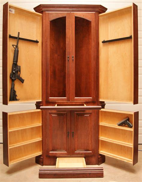 with hidden gun storage corner hutch nj concealment furniture for video https