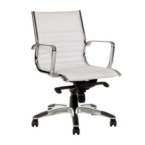 prestige medium back chair white value office furniture