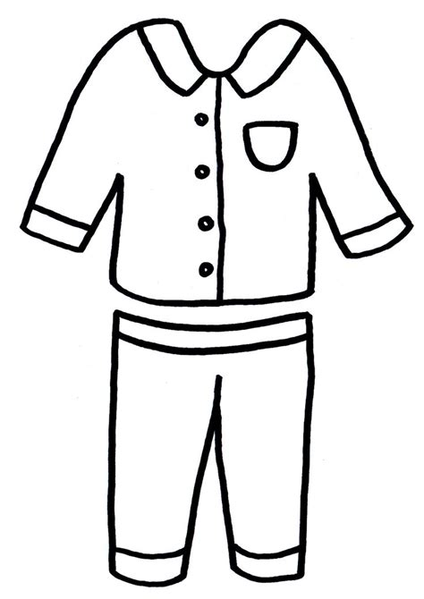 pajama template pajama outlines for coloring pages
