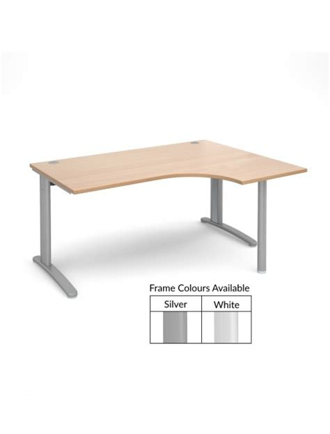 Beech Office Desk Beech Office Desk 1600mm Wide Dams Tr10 Ergo Tber16b 121 Office Furniture
