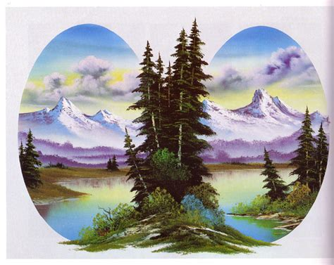 bob ross painting uk nanopics g 246 r 252 nt 252 ler bob ross manzara resim 1