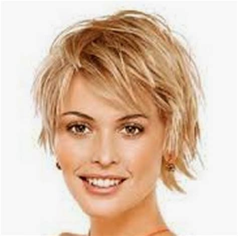 Haircuts For Big Round Head | short hairstyles for fine hair and round face this short