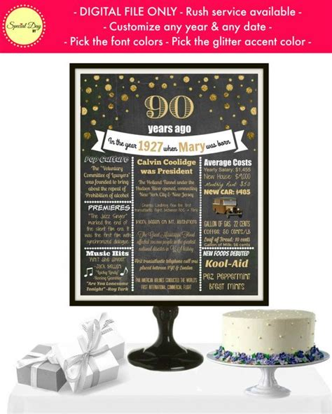 17 best ideas about 90th birthday decorations on