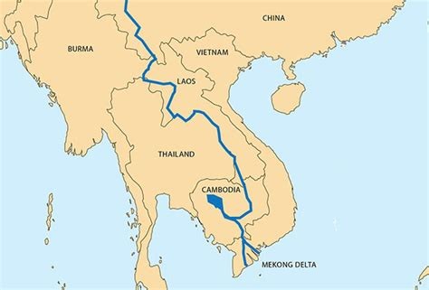 mekong river map the mekong of a river
