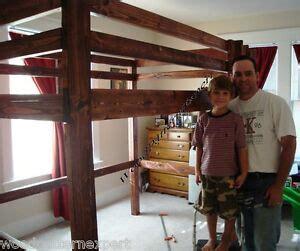 loft bunk bed paper patterns build king queen full
