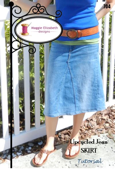 pattern for skirt from jeans tutorial upcycled jean skirt by maggieelizabeth sewing pattern