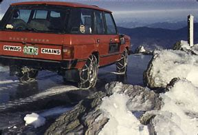 Chains are needed for snow and ice on a 4 wheel drive suv 4x4