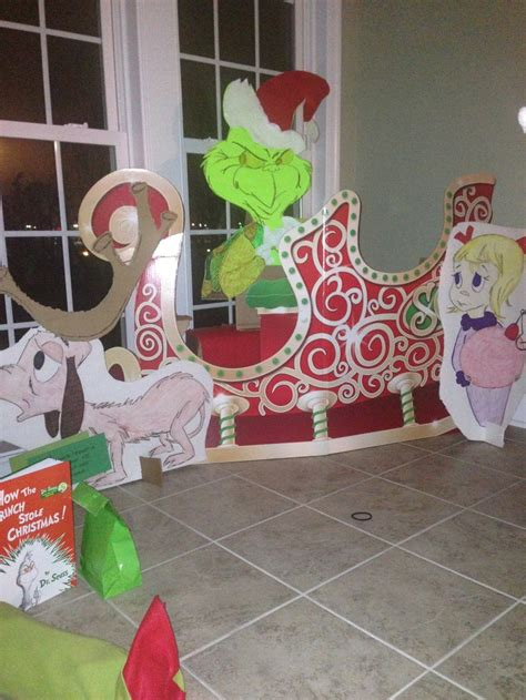 whoville decorations online create an actual 3d display of your grinchmas theme sleigh can be purchased but