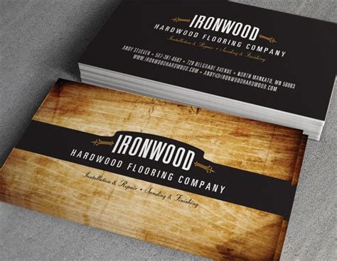 ironwood hardwood flooring business cards on behance