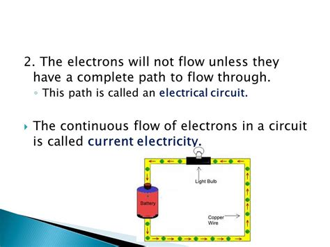 how does electricity flow through a circuit current electricity and electric circuits ppt