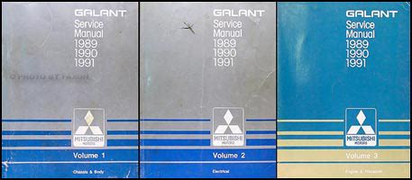 mitsubishi galant 1989 1990 1991 service manual repair7 1989 1991 mitsubishi galant repair shop manual set original