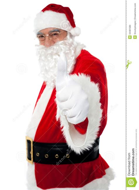 santa claus thumbs up happy santa gesturing thumbs up stock photo image 34481580
