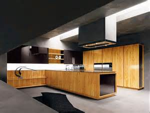 Kitchen Wood Furniture Modern Kitchen With Wooden Furniture Home Interior Design