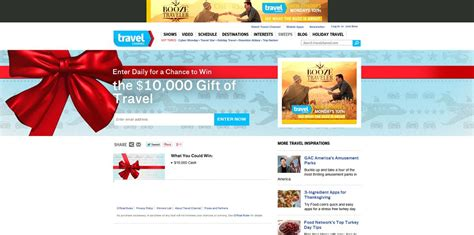 Travel Channel Com Sweepstakes - travel channel gift of travel sweepstakes