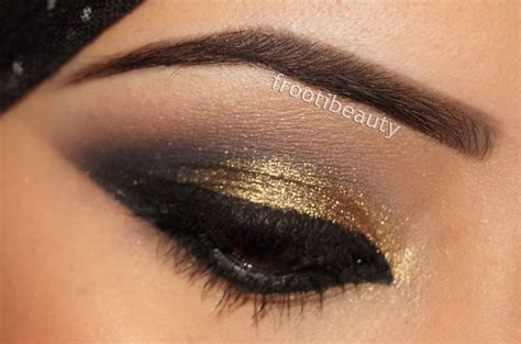 Eyeshadow Gold frootibeauty fff gold black arabic khaleeji style makeup
