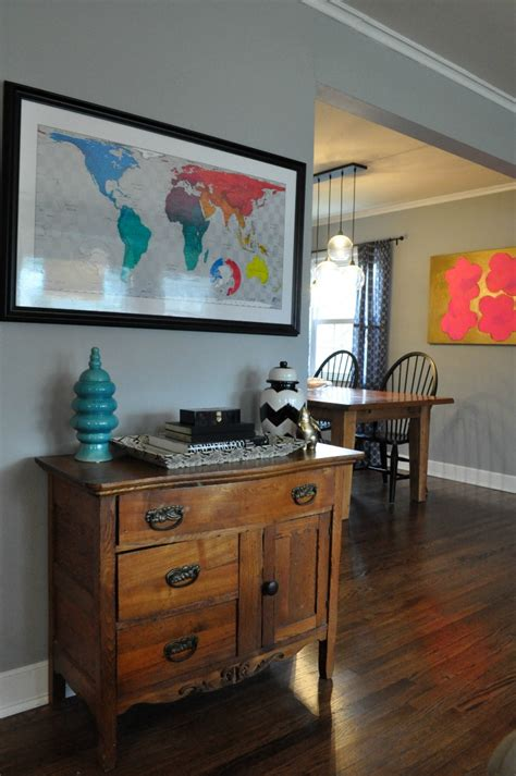 Nate Berkus Dining Room by Benjamin Moore Coventry Gray Sue At Home