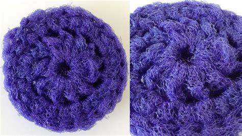 net pattern crochet nylon pot scrubber free crochet pattern