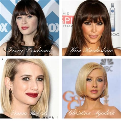 celebrities with long face shape do you know your face shape lifestyle hairdressing
