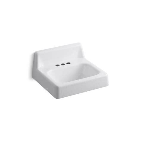 kohler wall mount sink kohler hudson wall mounted cast iron bathroom sink in
