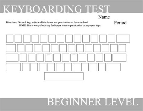 blank keyboard template printable 14 best images of computer typing worksheets blank