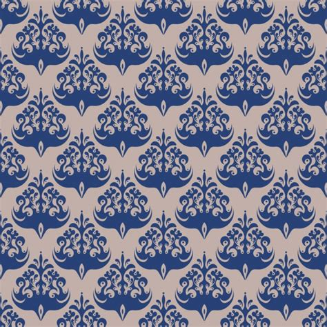 damask pattern freepik blue damask seamless pattern vector free download