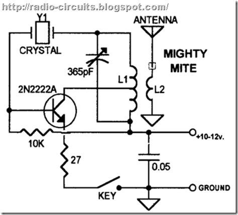 1 transistor fm transmitter radio circuits one transistor transmitter for qrp operation
