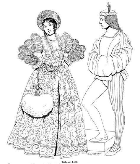 printable coloring pages renaissance coloring page clothing of the renaissance educational