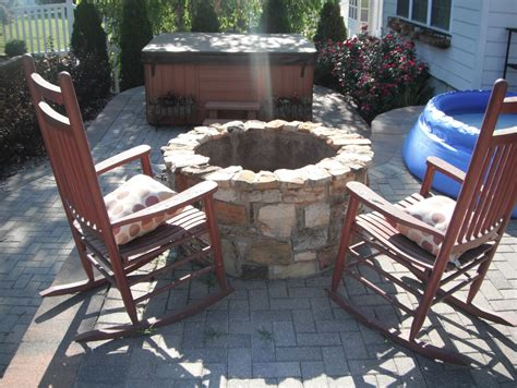 Fire pit and rocking chairs lawn systems inc