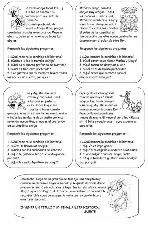 lecturas con preguntas inferenciales para secundaria lecturas comprensivas diarias