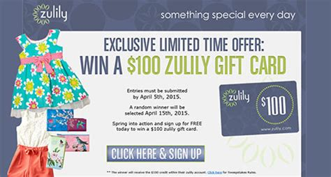 Zulily Gift Cards - win a 100 zulily gift card free 4 seniors