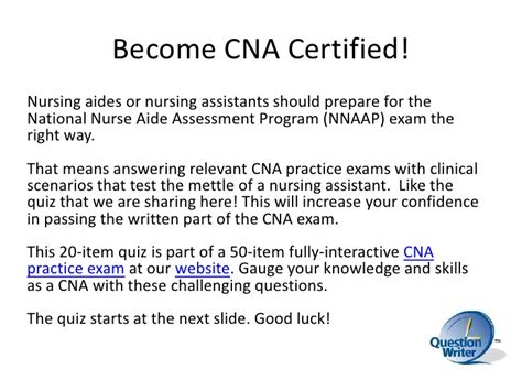 certified nursing assistant questions and