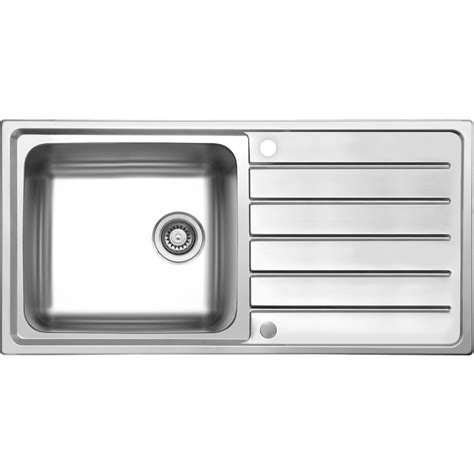 Single Bowl Kitchen Sink With Drainer Stainless Steel Single Bowl Kitchen Sink Drainer 1000 X 500 X 185mm