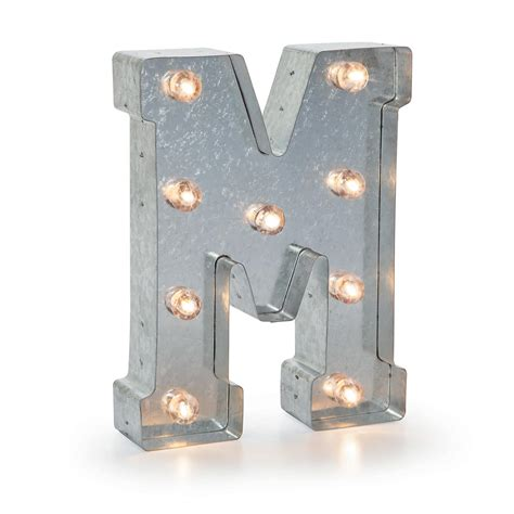 light up letter m lighted marquee letters silver light up letter m