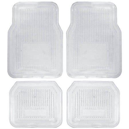 clear vinyl floor mats for cars bdk 4pc clear car floor mats rubber walmart