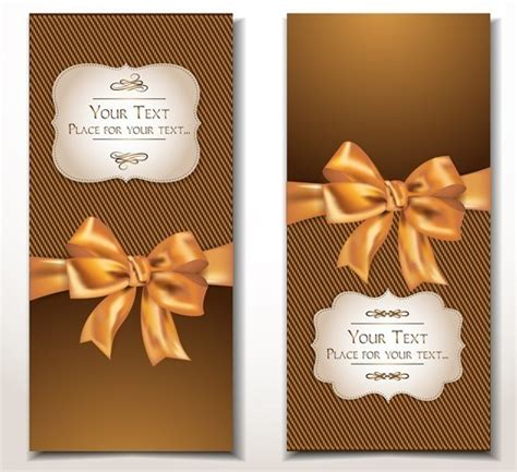 Gift Card Design Template - free vector elegant gift card with bow design template 01 titanui