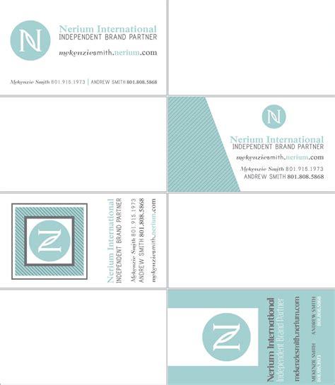 nerium business cards template hillmark design nerium business card sles
