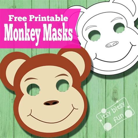 printable monkey mask template 12 best images about free printable animal masks