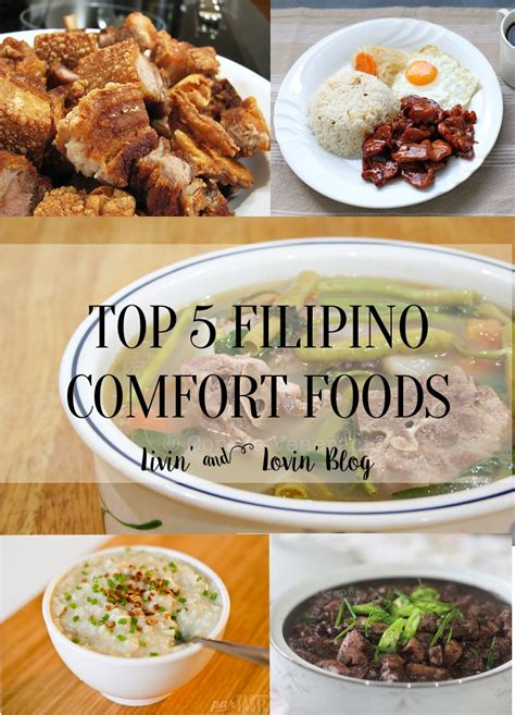 pinoy comfort food top 5 filipino comfort foods livin and lovin