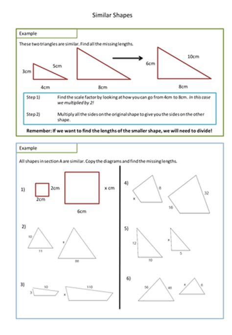 Similar Figures Worksheet 7th Grade by Similar Shapes Worksheet Scale Factors By Adz1991