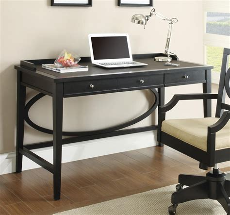 dark wood modern desk black contemporary writing desk modern contemporary