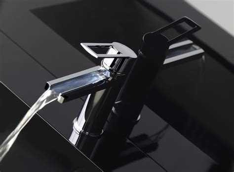 contemporary waterfall faucets riflessi from gessi