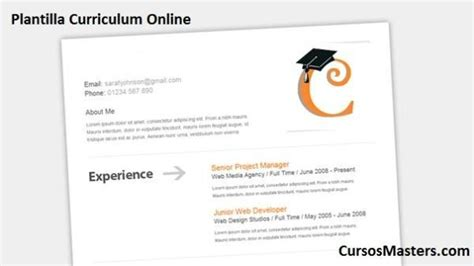 Plantillas De Curriculum Vitae On Line Plantilla De Curriculum Vitae Cursosmasters