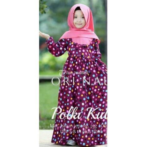 Dress Anak Katun Jepang Motif Pink Floral dress untuk anak anak bermotif polki new bahan