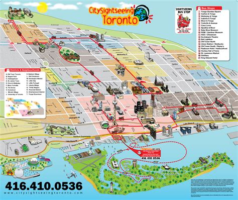 canadian map toronto large tourist panoramic map of toronto city vidiani