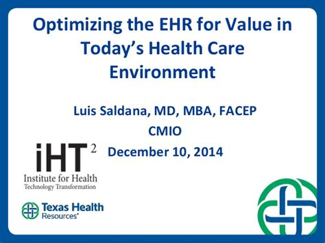 Value Of Health Care Mba by Health It Summit Houston 2014 Study Quot Ehr