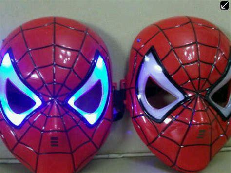 Topeng Nyala Superheroes 416 jual topeng nyala lu led anak ironman ultraman po lapak janeta