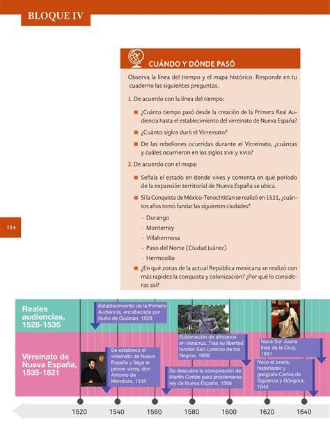 respuestas de la pagina 114 del libro de historia 2016 historia cuarto grado 2016 2017 online libros de texto